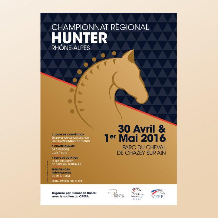 Affiche championnat régional de Hunter